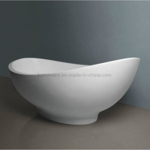 Ellipse Stone Resin Bathtub, Corian, Modified Acrylic, Polymable Stone (K1803) pictures & photos