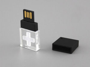 Small Crystal USB Drive, Black Plastic Crystal USB Flash Drive pictures & photos