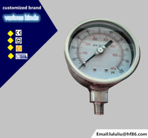 High Quality 100mm Stainless Steel Pressure Gauge pictures & photos