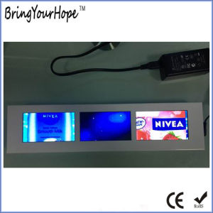 4.3 Inch Triple-Screen Shelf Edge Strip Ad Player (XH-DPF-0433) pictures & photos