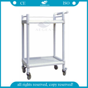 Two Shelves AG-Uta05 Ce Approved Luxurious Clinic Medication Trolley pictures & photos