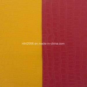 Artificial PU Leather PU Printed and Colorful Decorative Leather pictures & photos