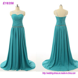 Hot Sale Elegant Evening Dresses V-Opening Back Prom Formal Party Dress pictures & photos