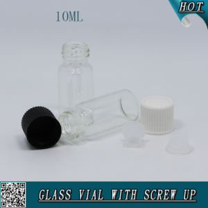 10ml Transparent Glass Vial with Plastic Screw Cap for Essential Oil pictures & photos