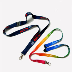 Promotion Polyester Multi-Color Dye Sublimation/Heat Transfer Logo Custom Lanyard for Gifts pictures & photos