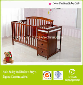 Europe Standard Baby Crib/Cot with Solid Pine Wood pictures & photos