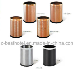 Hotel Guestroom Leather Coated Trash Can pictures & photos