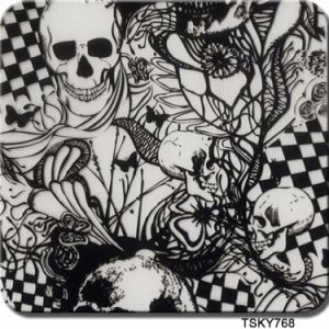 [0.5m Wide] Kingtop Skull Flower Design Hydro Dipping Liquid Image Water Transfer Printing Hydrographic Film with PVA Material Wdf080 pictures & photos