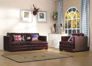 Modern Genuine Leather Living Room Sofa with Sofa Design for Home Furniture pictures & photos