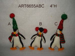 "5""H Christmas Tree Ornament Penguin-3 Assorted pictures & photos"
