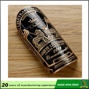 Fashion and Hot Selling Customized Wine Bottle Metal Label pictures & photos