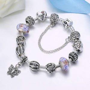 Vintage Butterfly Pendant & Glass Beads Bracelets & Bangles for Women DIY Jewelry pictures & photos