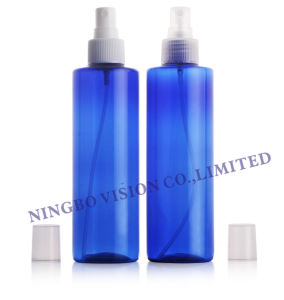 High Quality 10 to 1000ml Clear Pet Cosmo Round Plastic Bottles with Black Fine Mist Sprayer, Dispensing Pump pictures & photos