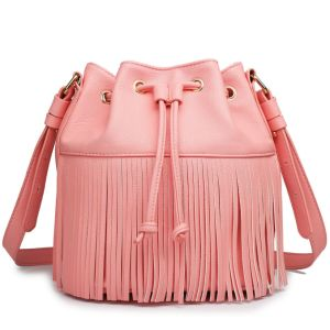 New Designer PU Drawstring Bag Tassel Shoulder Bag pictures & photos