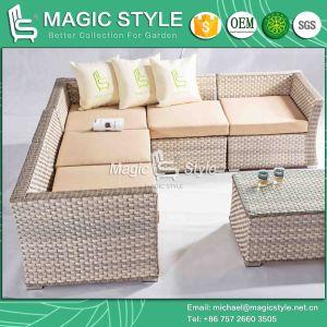 "Wicker Corner Sofa Set ""L"" Rattan Sofa Set (Magic Style) pictures & photos"