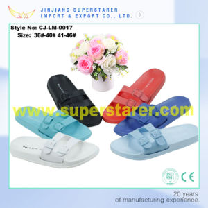Fashion Style EVA Unisex Slipper with Adjustable PVC Upper pictures & photos