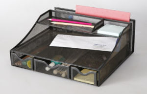 Desk Organizer with Drawers/ Metal Mesh Stationery Organizer/ Office Desk Accessories pictures & photos