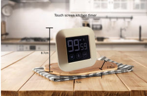 Touch Screen Smart Cooking Timer with Magnet and Folding Foot for Kitchen pictures & photos