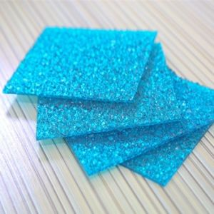 Long Life Blue 6mm UV PC Embossed Sheet pictures & photos