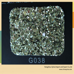 Nice Quality PU Leather Glitter for Bags and Shoe pictures & photos