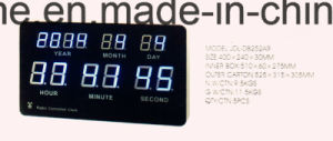 LED Screen Digital Big Wall Clock Show Date pictures & photos