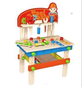 Hot Christmas Sale Wooden Workbench Toy for Kids and Children pictures & photos