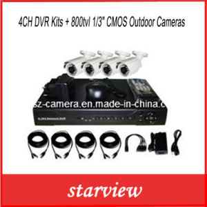 "4CH DVR Kits + 800tvl 1/3"" CMOS Outdoor Cameras pictures & photos"