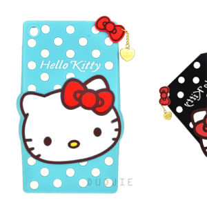Cute Cartoon Hello Kitty Silicone Case for iPad Mini Mobile Phone Cover (XS-A3)