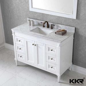 Building Material Solid Surface Rectangular Square Cabinet Washing Basin pictures & photos