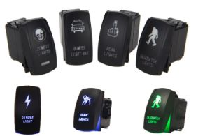 Auto Vehicle Car Boat Marine Driving Light Push Button pictures & photos