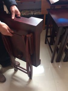 Easy Moving Wooden Foldable TV Tray pictures & photos