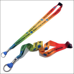 Polyester Colorful Custom Logo Dye Sublimation Lanyards for Promotional Gift pictures & photos
