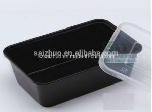 Black Single Compartment Disposable Plastic Food Container Lunch Box (SZ-L-750) pictures & photos