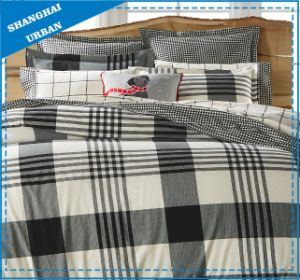 Navy Plaid Design Cotton Printed Duvet Cover Bedding pictures & photos