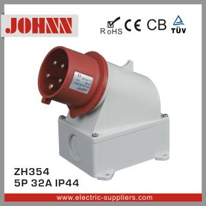 IP44 5p 32A Surface Mounted Plug for Industrial pictures & photos