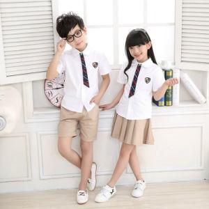 100% Cotton Kids Clothes Set Primary School Uniform Designs pictures & photos