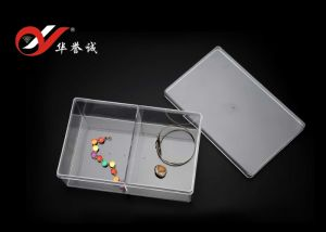2 Grids Rectangle Jewelry Display Plastic Box pictures & photos