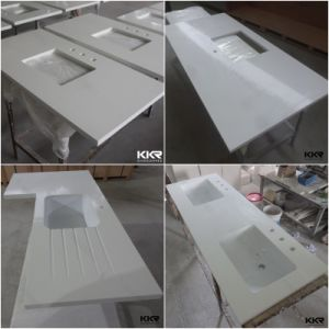 Custom Artificial Marble Stone Solid Surface Kitchen Countertops pictures & photos