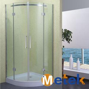 Bathroom Round Sliding Door Free Standing Glass Shower Enclosure pictures & photos
