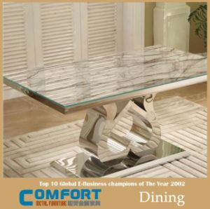 Marble Top Space Saving Dining Tables Furniture pictures & photos