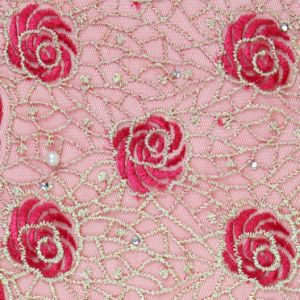 Wholesale Embroidery Lace Fabric Beaded pictures & photos