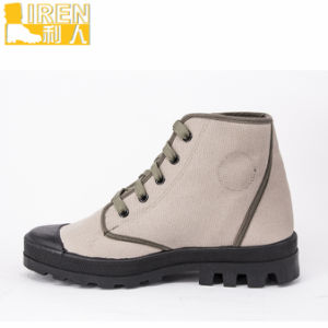 2017 High Quality Camouflage Fabric Army Desert Boots pictures & photos