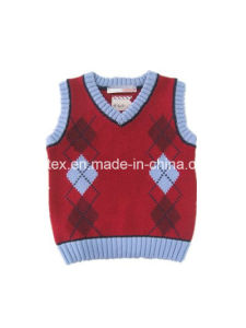 High Quality Velvet Knitted Vest for Kids pictures & photos