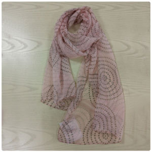 Polyester Dots Printed Chiffon Long Scarf pictures & photos