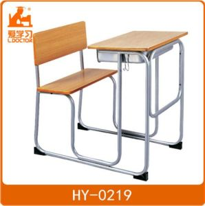 Wood Student Classroom Furniture with Metal Tube pictures & photos