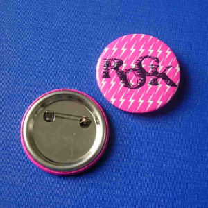 Rock Button Badge, Custom Metal Lapel Pin (GZHY-TB-007) pictures & photos