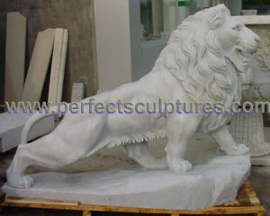 Carving Stone Marble Lion Animal Sculpture for Garden Statue (SY-D137) pictures & photos