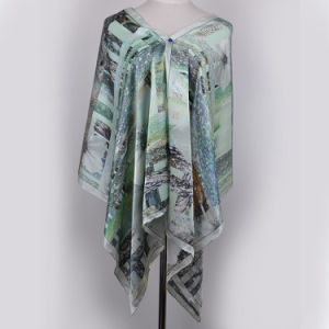 Digital Printed Silk Shawl (13-BR110303-3) pictures & photos