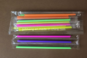 Custom Party Disposable Individually Wrapped Flexible Plastic Drinking Straws pictures & photos