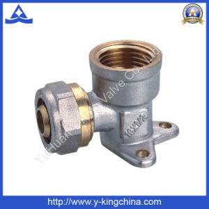 Nicke Plated Wall Mounted Brass Pex Pipe Fitting (YD-6060) pictures & photos